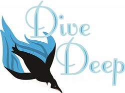 Dive Deep print art