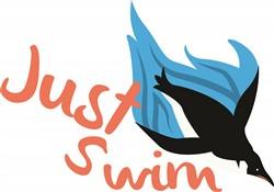 Just Swim print art