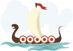 Viking Ship print art