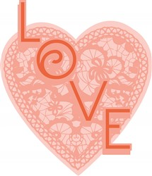 Lace Heart Love print art