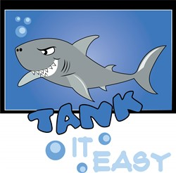 Sharks Take It Easy! print art