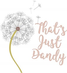 Just Dandy print art