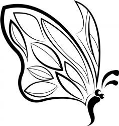 Black & White Butterfly print art