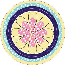 Daisy Mandala print art