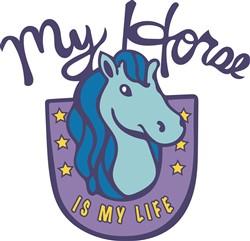 My Horse Is My Life print art