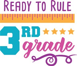 Get Ready To Rule 3rd Grade print art