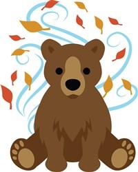Swirling Fall Bear print art