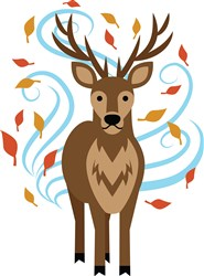 Swirling Fall Buck print art