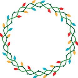 Christmas Lights Wreath print art