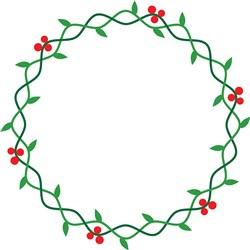 Christmas Holly Wreath print art