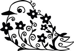 Flower Bird print art