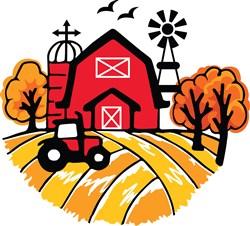Farm Scene print art