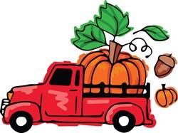 Pumpkin Truck print art