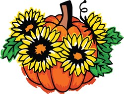 Sunflower Pumpkin print art