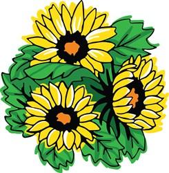 Sunflowers print art