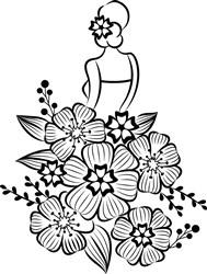 Floral Woman print art