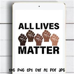 All Lives Matter print art