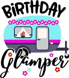 Birthday Glamper print art