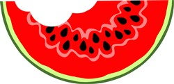 Watermelon Slice print art