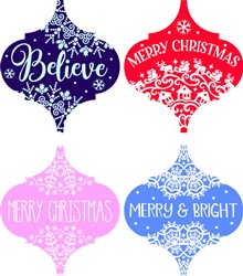 Embellished Christmas Ornaments print art
