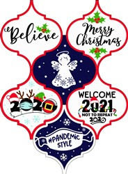 Christmas 2020 Ornaments print art