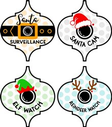 Fun Christmas Surveillance Ornaments print art