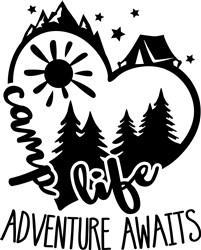 Tent Life Adventure Awaits print art