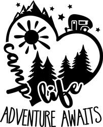 Camper Life Adventure Awaits print art