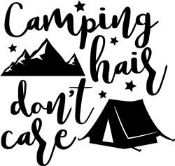 Camping Hair Dont Care print art