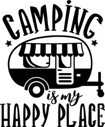 Camping Is My Happy Place print art