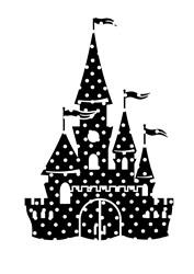 Polka Dot Castle print art