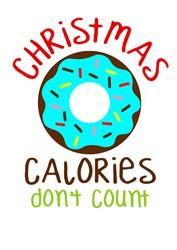 Christmas Calories Dont Count print art