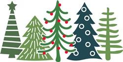 Christmas Tree Border print art