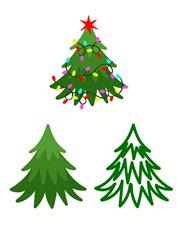 Various Christmas Trees print art