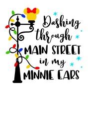 Main Street Minnie Ears print art