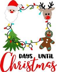 Days Until Christmas Frame print art