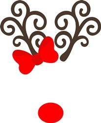 Rudolph Antlers & Nose print art