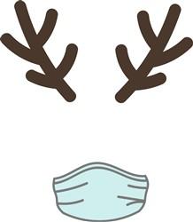 Christmas Reindeer & Mask print art
