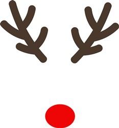 Christmas Reindeer Antlers print art