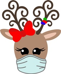 Kawaii Reindeer & Mask print art