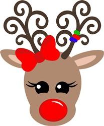 Christmas Kawaii Reindeer print art
