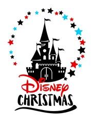 Magic Kingdom Disney Christmas print art