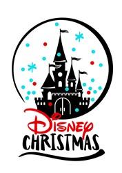 Disney Christmas Scene print art