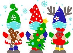 Masked Christmas Gnomes print art
