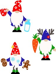Miscellaneous Christmas Gnomes print art