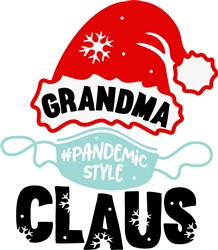 Grandma Claus Pandemic Style print art