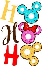 Ho Ho Ho Disney Donuts print art