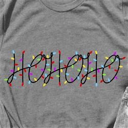Light Strand Ho Ho Ho print art