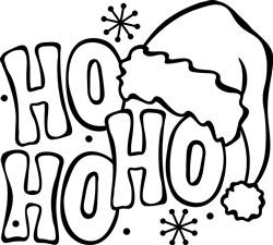 Ho Ho Ho Outline print art