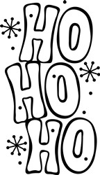 Ho Ho Snowflakes print art
